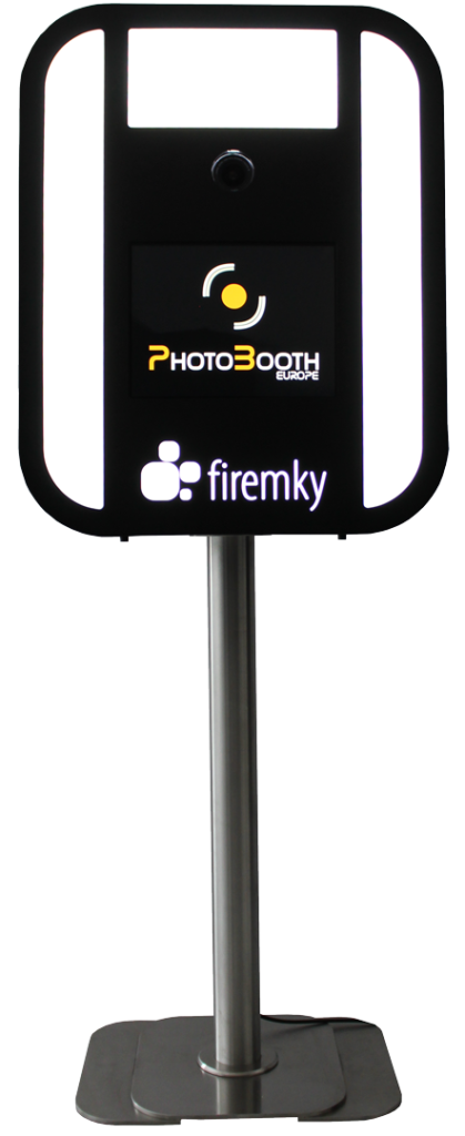 Your logo or text on front side of photo booth.