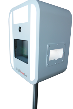 You can choose any color photo booth you want. We can also make whole device in your company's colors.